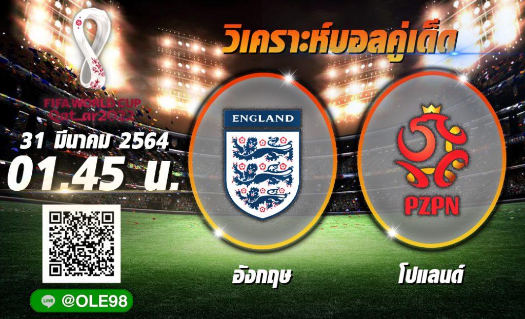 วิเคราะห์ก่อนเกม อังกฤษ พบ โปแลนด์