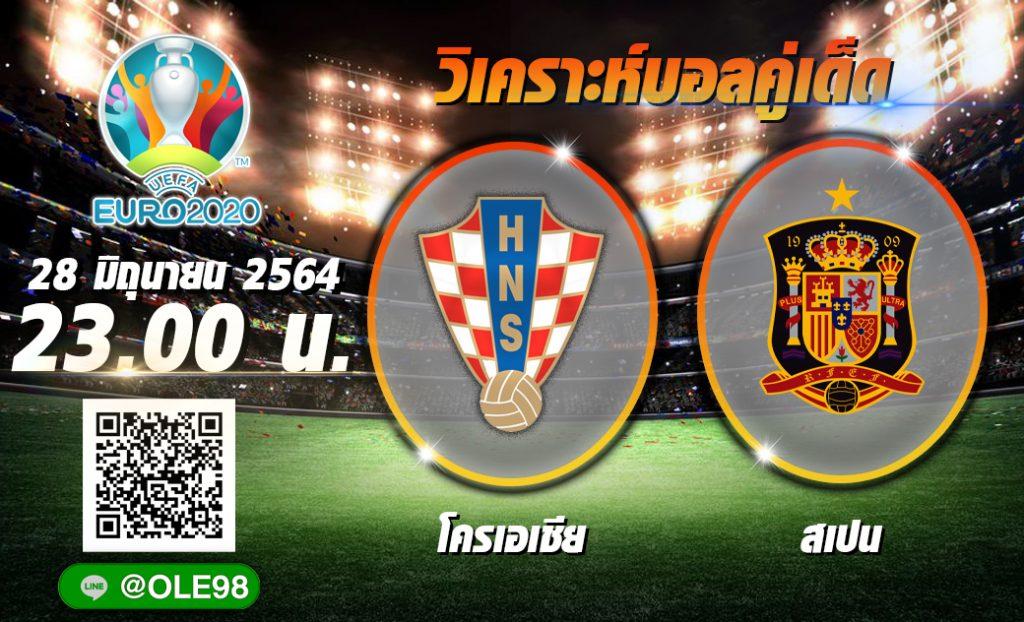 วิเคราะห์ก่อนเกม ฟุตบอล ยูโร 2020 โครเอเชีย พบ สเปน