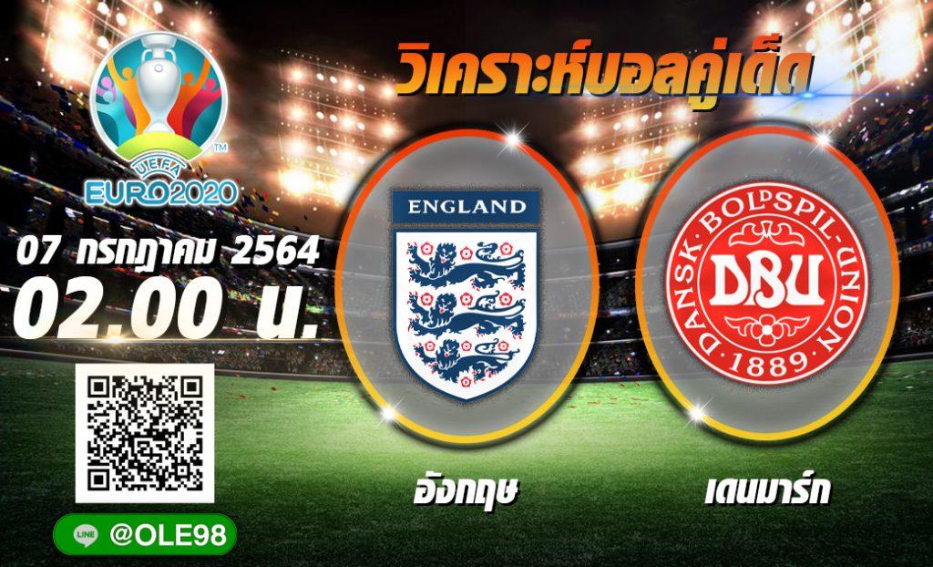 วิเคราะห์ก่อนเกม อังกฤษ พบ เดนมาร์ก